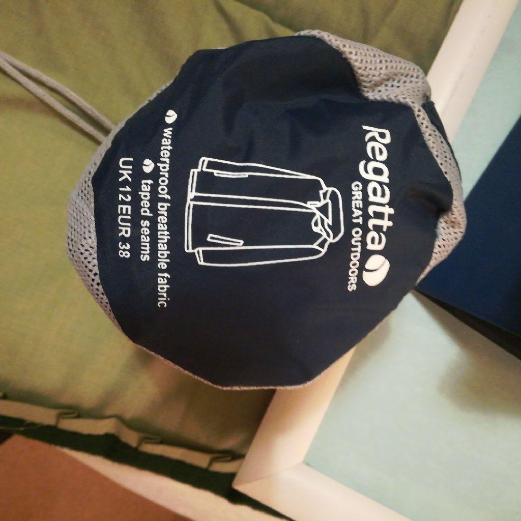 Regatta waterproof breathable lightweight jacket.