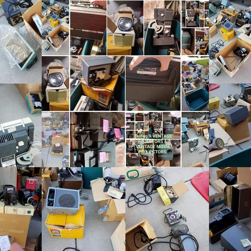 Vintage projectors & photography equipment