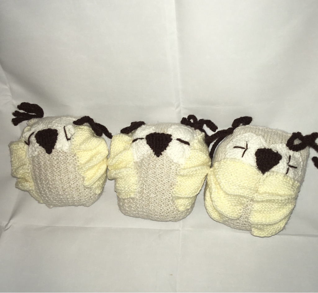 3 soft toy owls