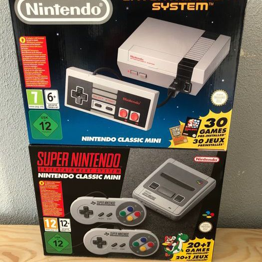 Original mini SNES and NES
