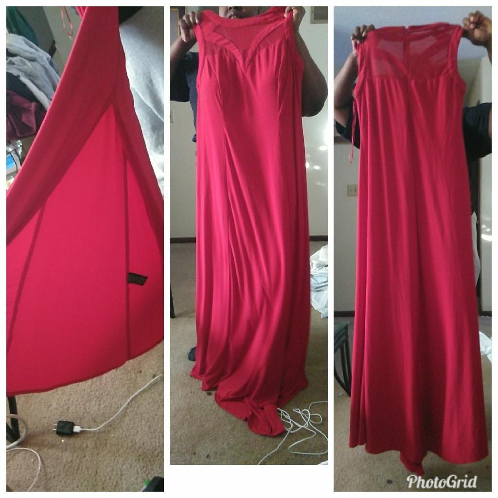 Red dress & stillettos