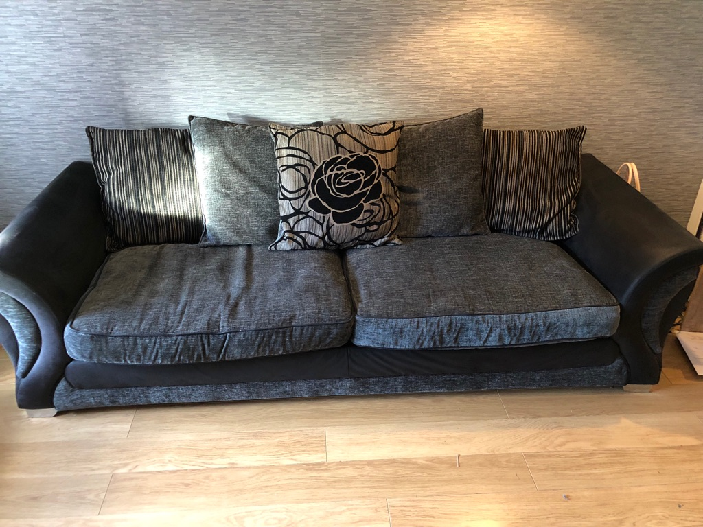 4 Seater Sofa, chair and footstool