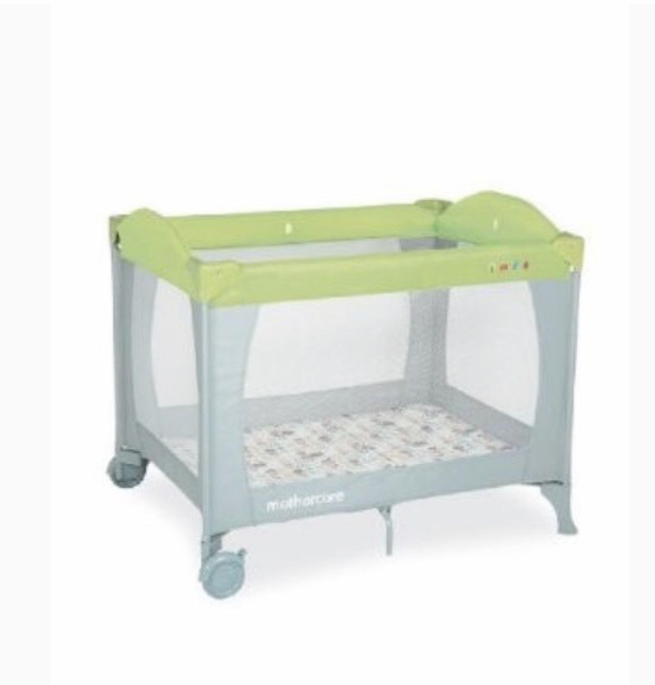Grey and green Mothercare Travel cot /play pen