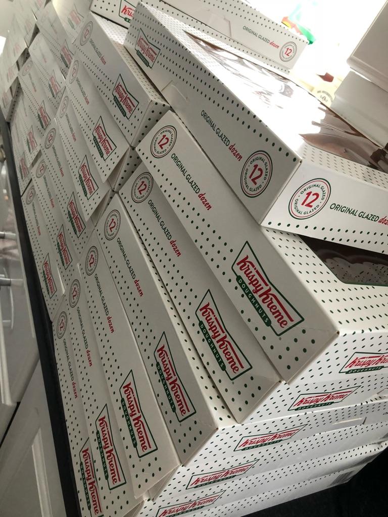 Krispy Kreme original glazed doughnuts