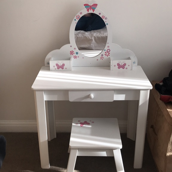 Girls ELC dressing table with mirror and stool