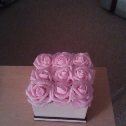 FOREVER FLOWERS IN HAT BOX