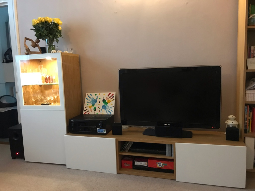 TV storage combination - cabinet and TV stand