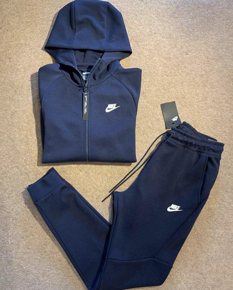 Nike Tech Fleece Tracksuit Navy Village