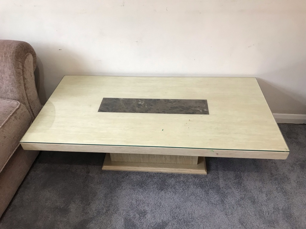 Rectangle coffee marble table