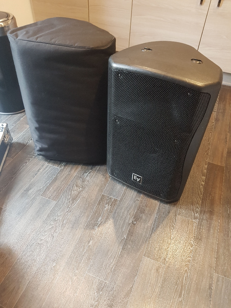EV ZX5-90 Passive speakers with covers