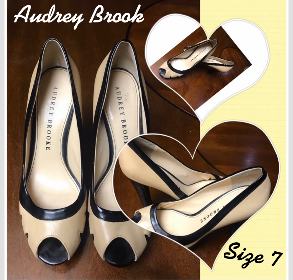 Audrey Brook Beige High Heel Shoes