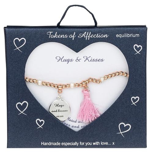 Tokens of affection bracelet 'hugs & kisses'