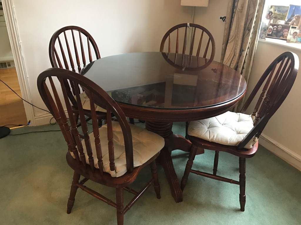 Extending dining table - solid wood