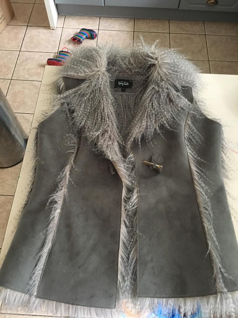 M&S fur/suede Gilet