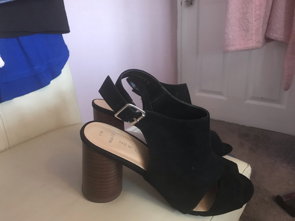 Black suede sandals new look size 5/brand new
