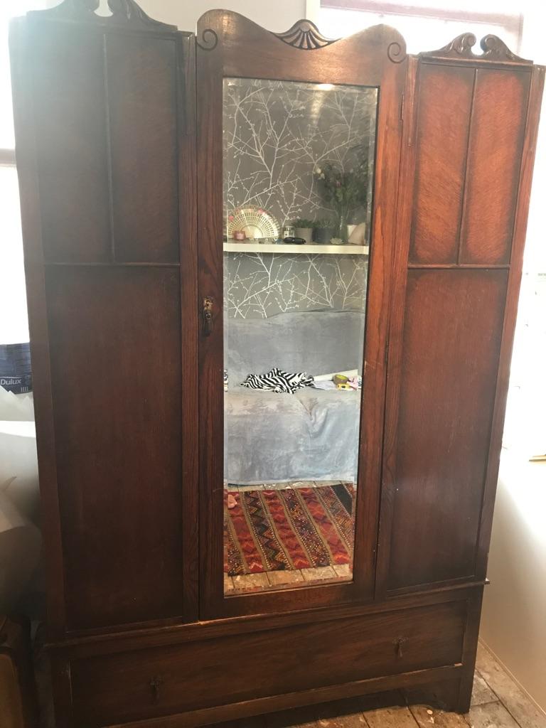 Vintage antique wardrobe