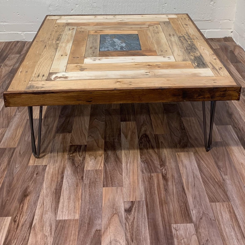 Reclaimed Pallet Wood Coffee Table Village