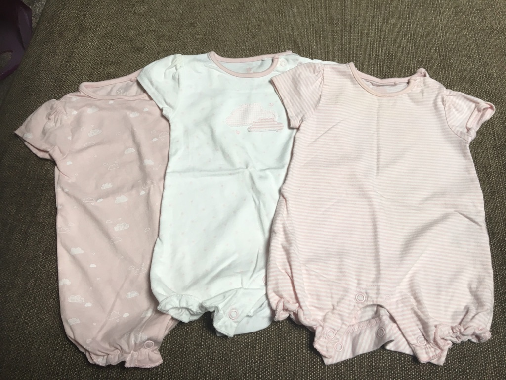 Baby girls 0-2month NEXT rompers