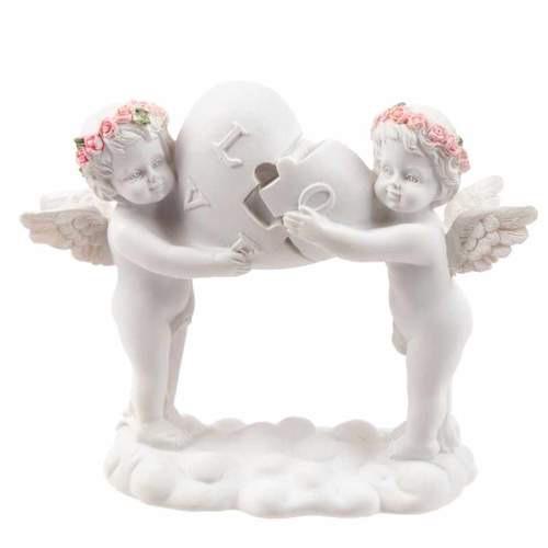 Rose cherubs- love heart puzzle
