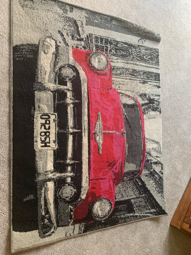 Retro car rug 120cm x 160cm