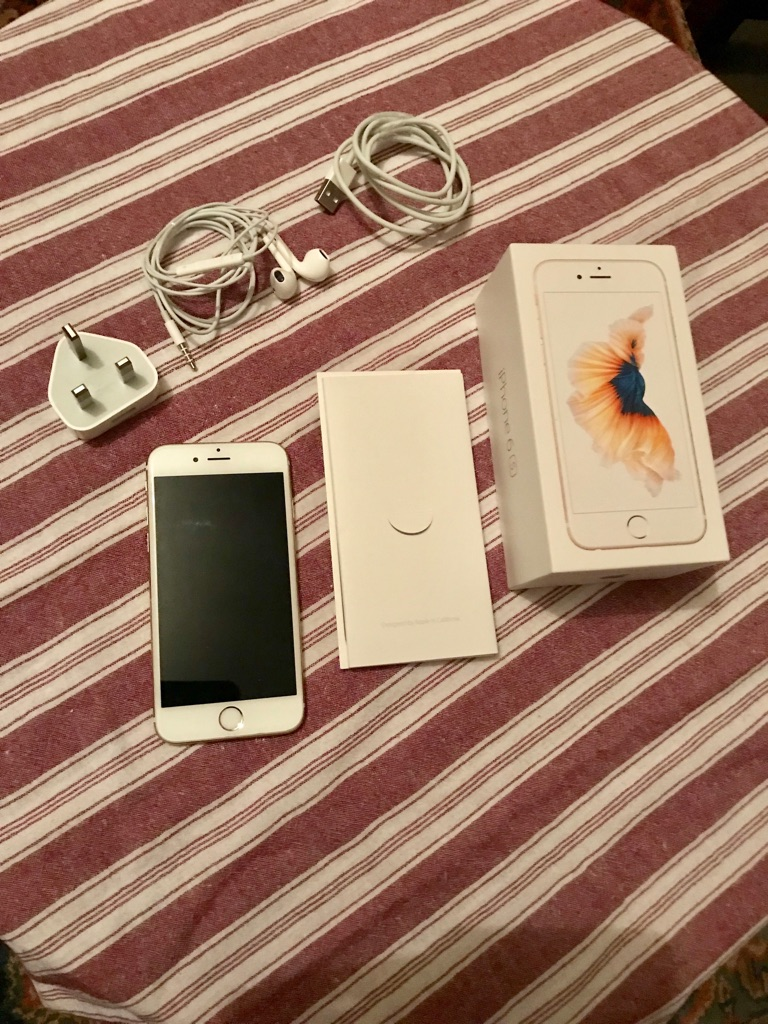 IPhone 6s 16gb gold/white excellent condition