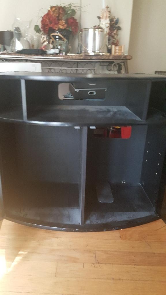 Black two door tv stand