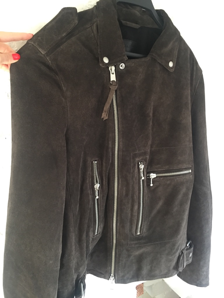 All saints Leather Jacket Size L New