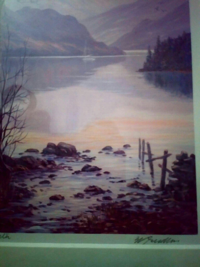 Jeff shudders Lake District signed print