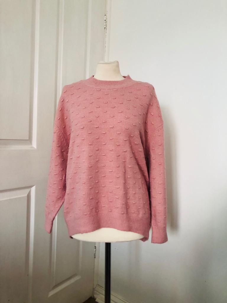 Women's pink jumper by bonmarch size 16