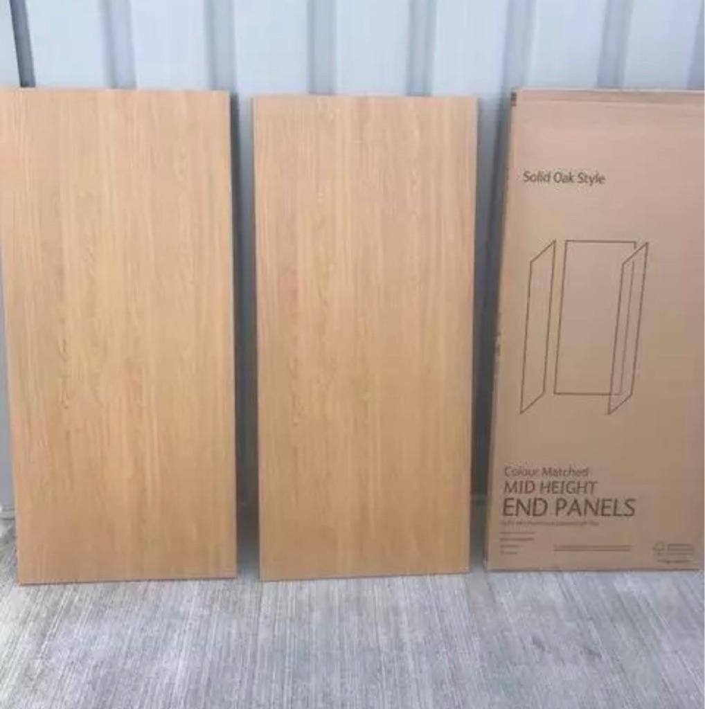 Kitchen end panels oak style