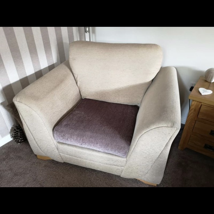 Large cream arm chair