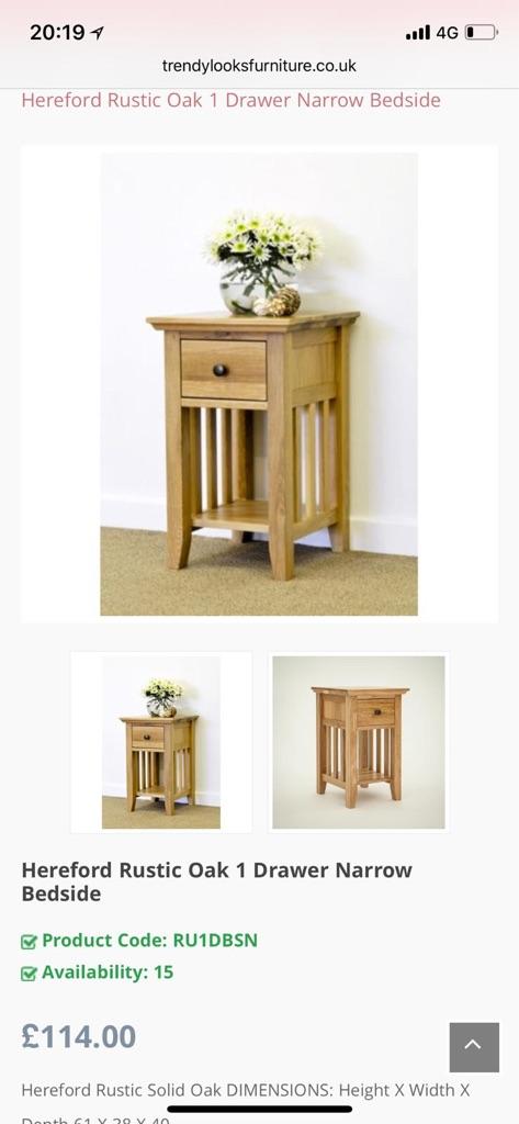 Hereford Rustic Oak bedroom furniture