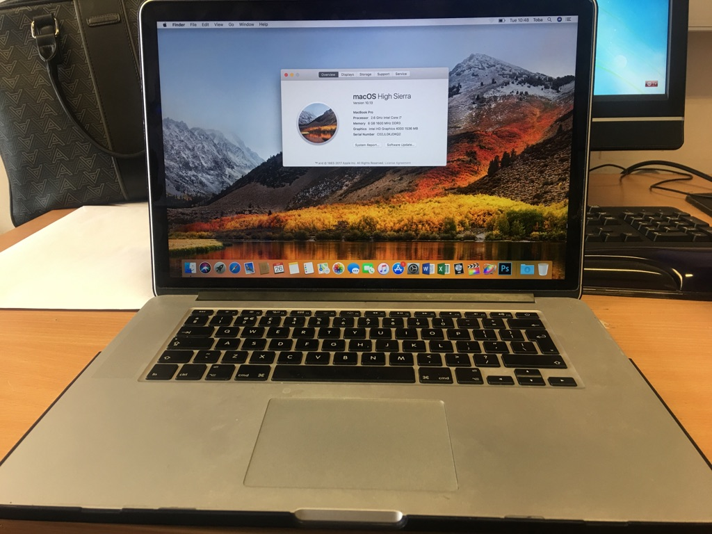 MacBook Pro - 2.6GHz, Intel Core i7, 8GB, 500GB HDD, 15 inch screen - Retina Display