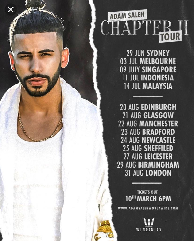 Adam Saleh VIP tickets London