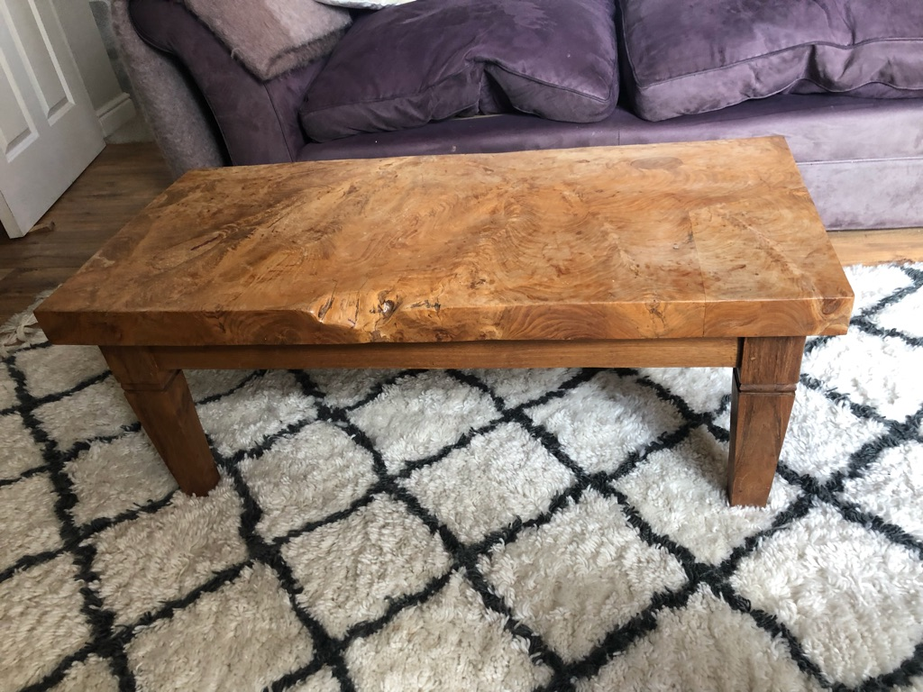 Beautiful solid hardwood coffee table