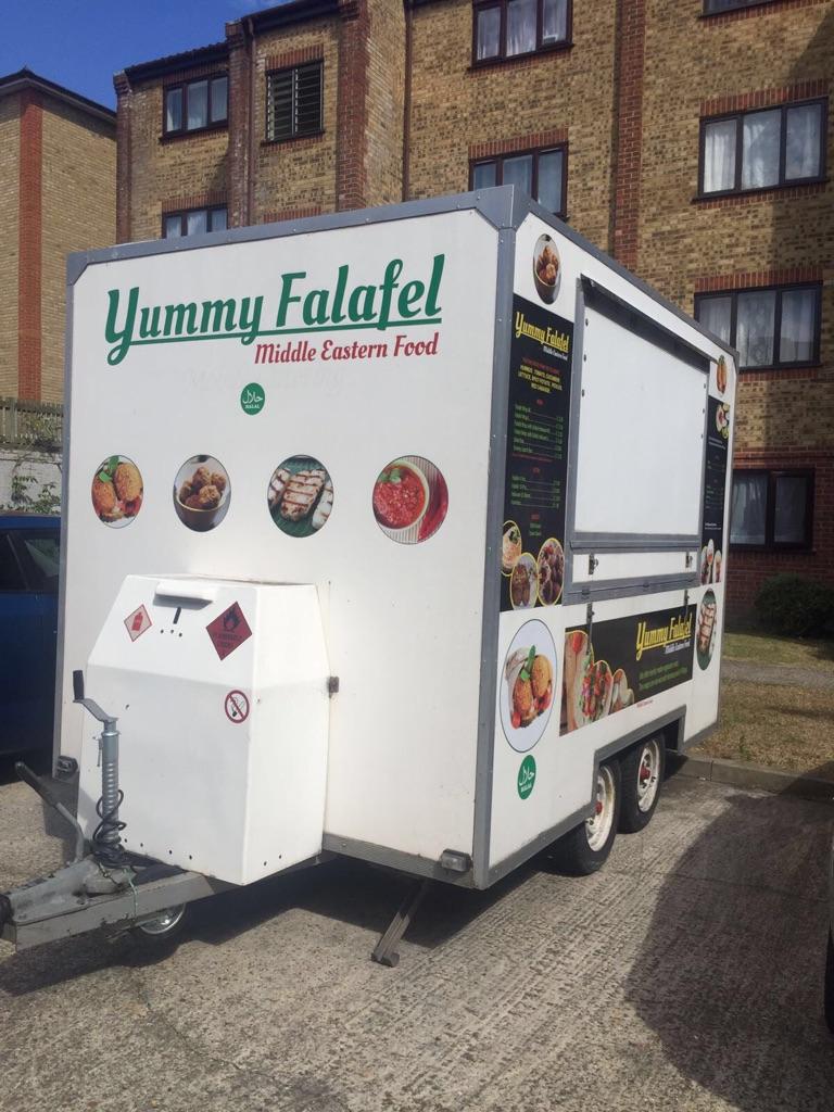 Falafel catering trailer