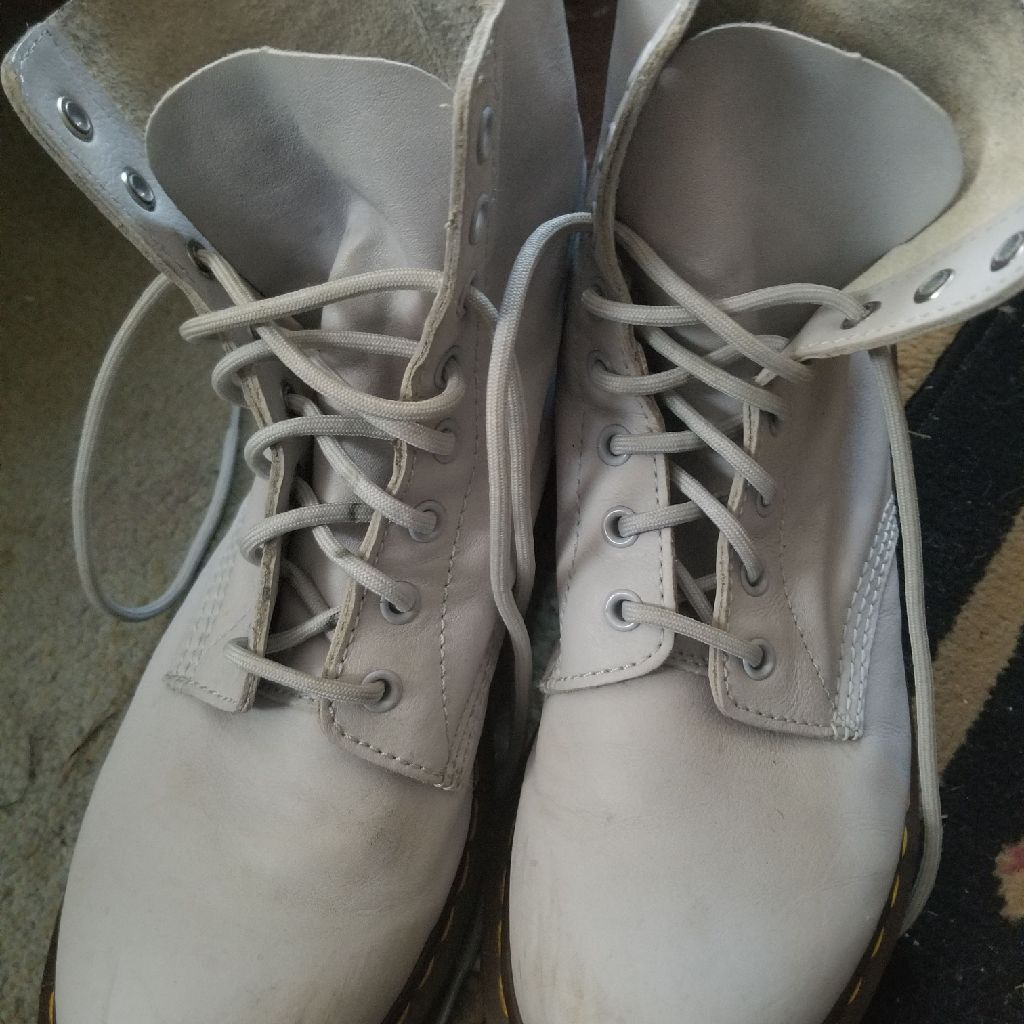 Womens Light gray Pascal Doc Martens size 10