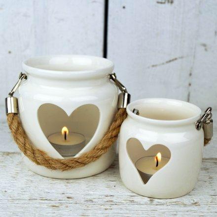 White porcelain tea light holder