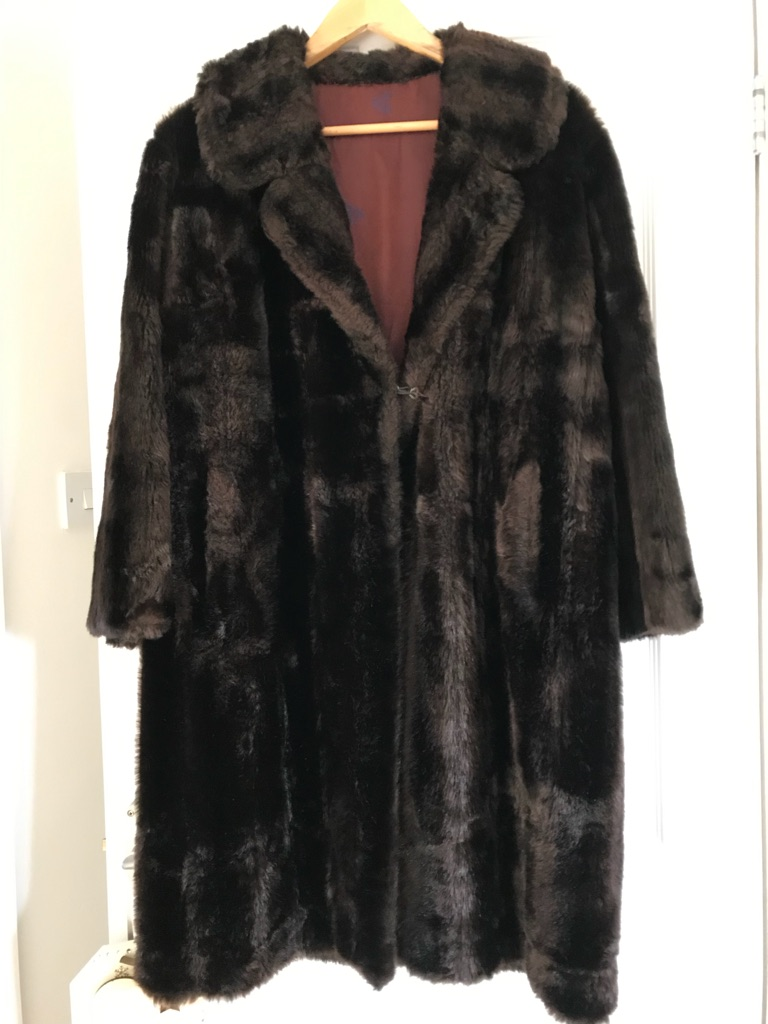 Vintage brown fake fur coat