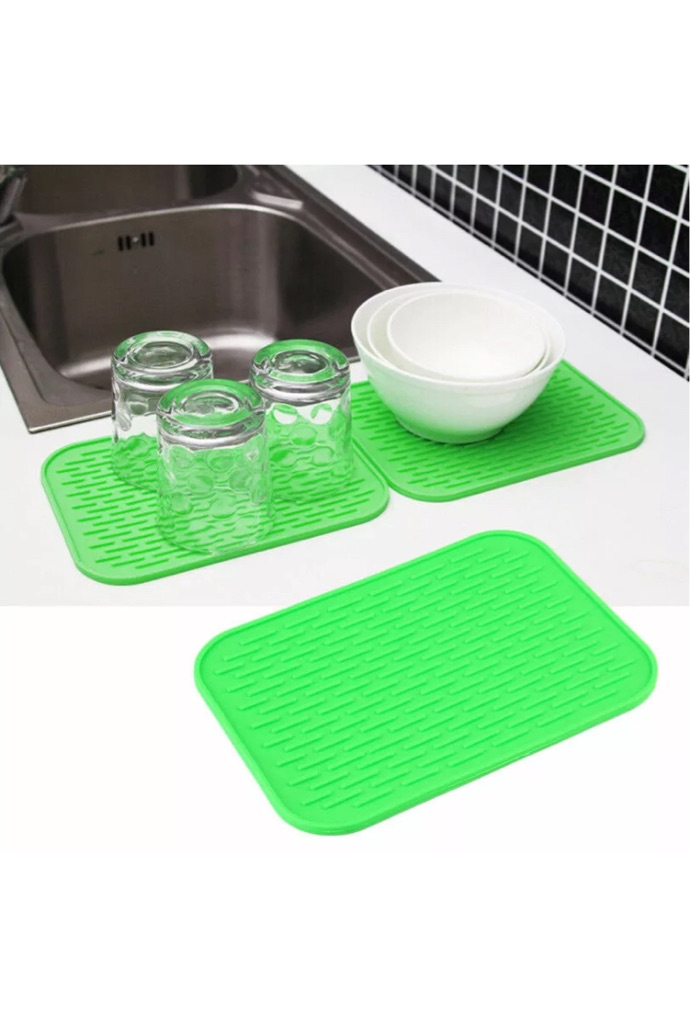 4 x Square Insulation Mat Silicone Table Protection Heat Resistant  Anti Scald