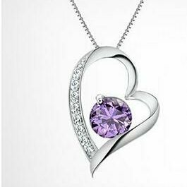 Ladies Heart Necklace with Gift Box
