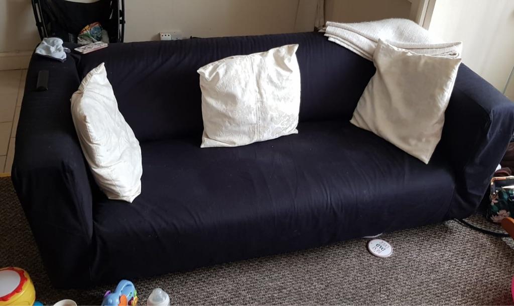 Two-seater Ikea sofa