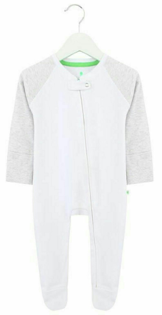 Babygrow romper bodysuit - White & Grey