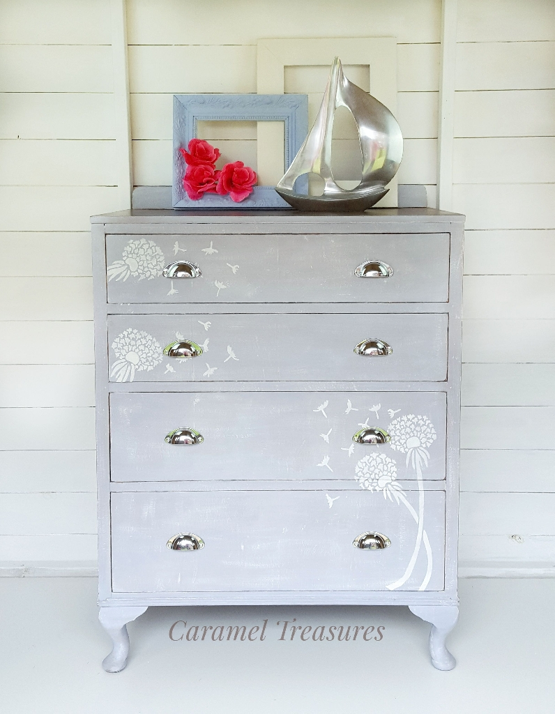 Upcycled solid wood chest of drawers