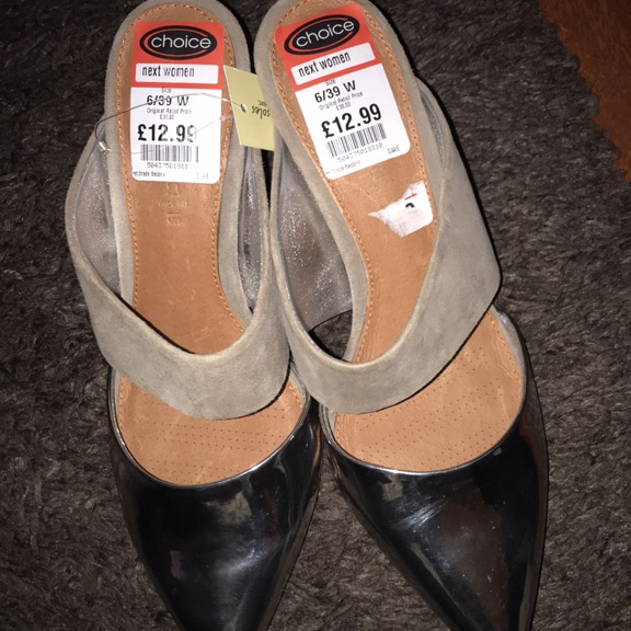 Ladies backless sandals size 6