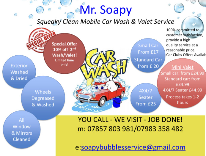 Mr Soapy Professional Car wash/Valet Service