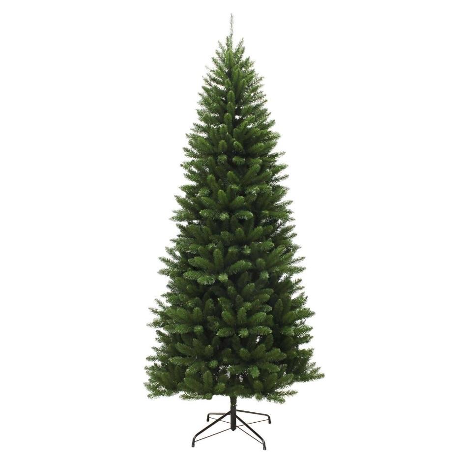 7.5ft slim evergreen Christmas tree