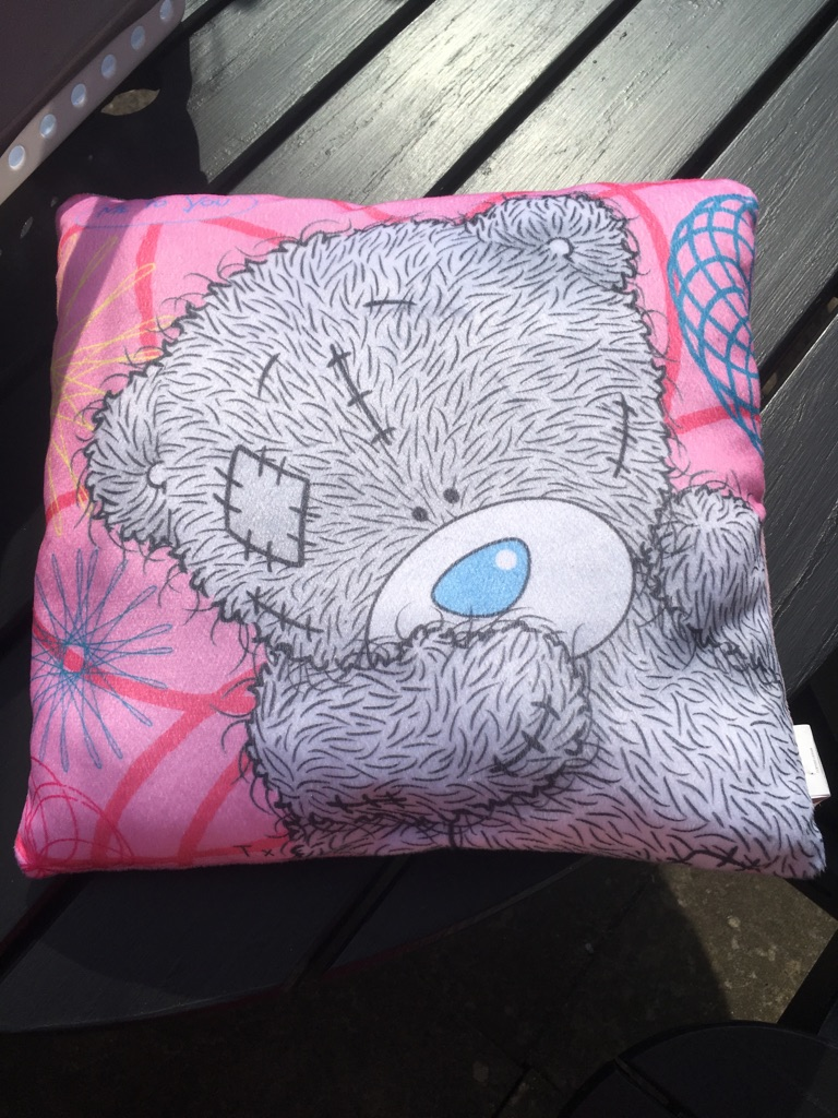 Tatty teddy pillow