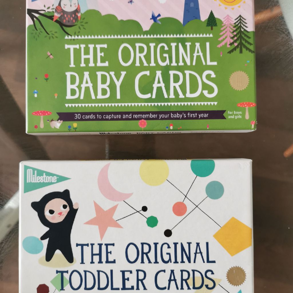 The original baby cards and the original toddler cards