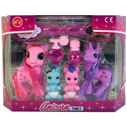 Unicorn family play set